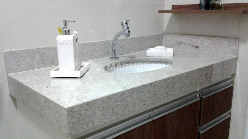 Marmoraria Penapolense  Serviços Banheiros Lavatório em Granito  Penápoli -> Pia De Banheiro Granito Branco Itaunas